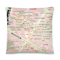 Harajuku Map Full Print Pillow