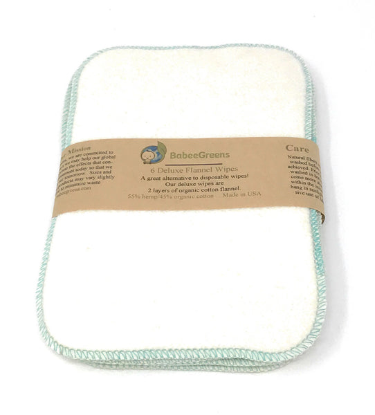 Deluxe Cloth Baby Wipes (6 Pack)