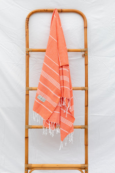Upcycled Pestemal - Tangerine
