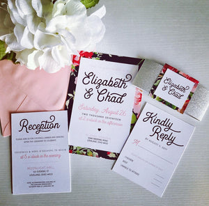 Pattern & Sparkle Wedding Invitations
