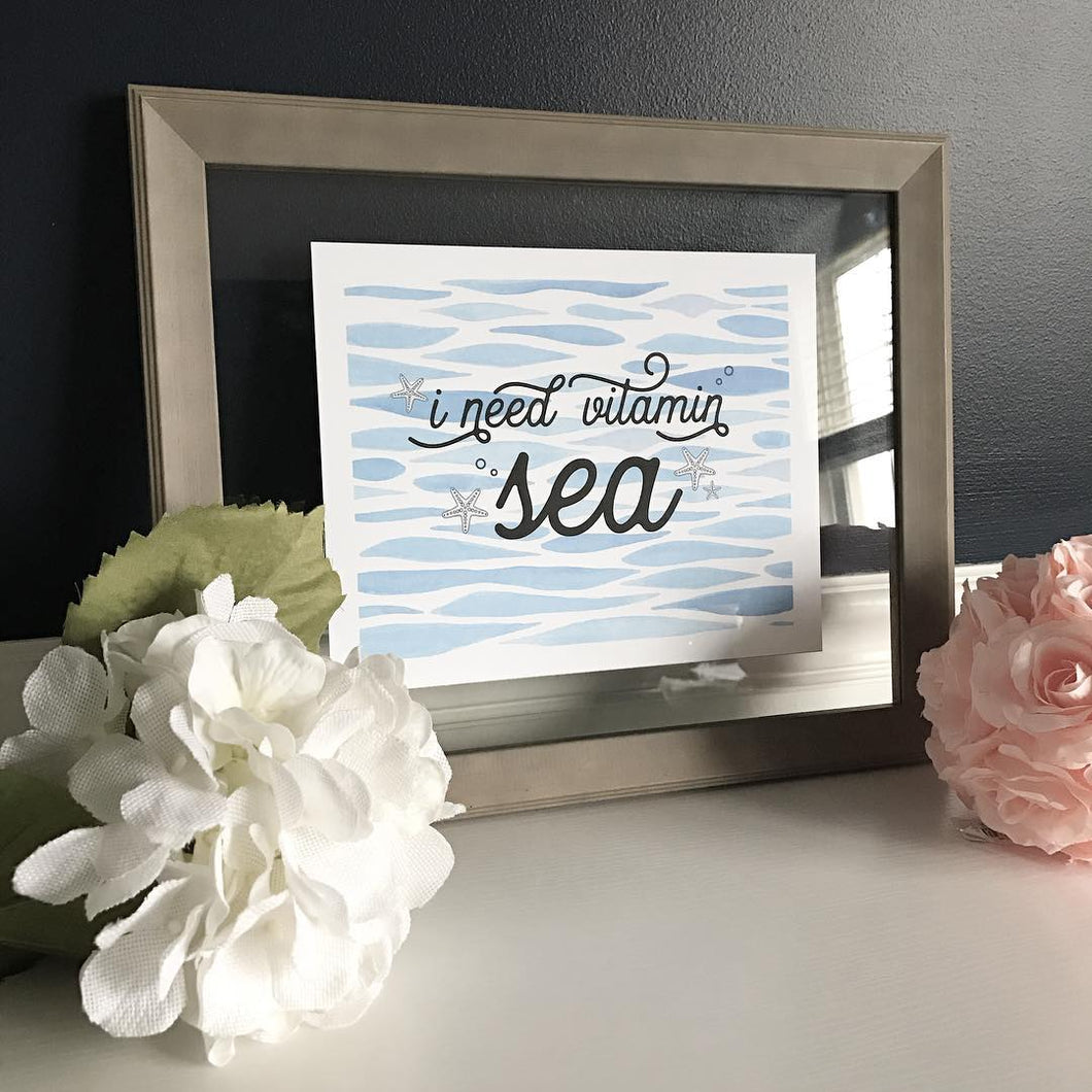 Vitamin Sea :: Framed Print