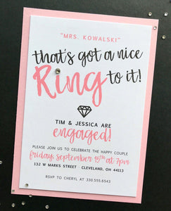 Ring to It :: Engagement Invitations