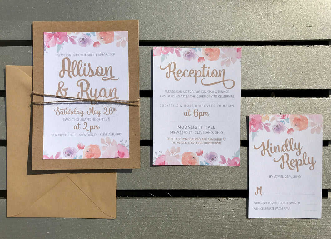 Floral & Twine Wedding Invitations