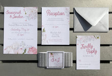 Shimmer & Stripe Wedding Invitations