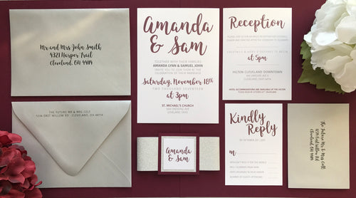 Glitz & Glam Wedding Invitations
