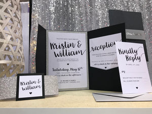 Tuxedo Glitter Pocket Card Suite