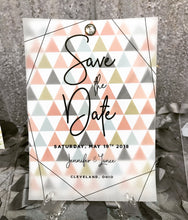 Vellum Overlay Save The Date with Gemstone Brad