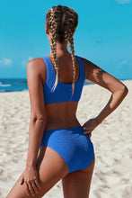 Load image into Gallery viewer, Jamieson Blue Ribbed Bikini Set, Free Shipping!