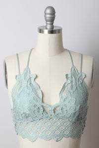 Juliet Double Strap Crochet Lace Bralette, Free Shipping!