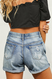 Retro Chic Distressed Shorts, Free Shipping!
