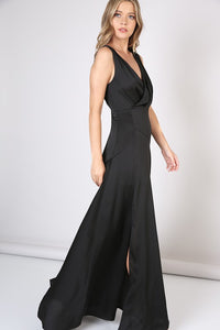 Valentina Front Slit Flare Surplus Maxi Dress, Free Shipping!