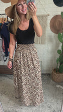 Load and play video in Gallery viewer, Until Next Time Leopard Print Midi Skirt