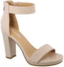 Load image into Gallery viewer, Last One! Arianna Nude Block Heel! Free Shipping!