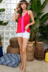 Adrift Color Block Cami Tank Top