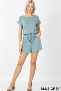 Extracurricular Blue Grey Romper, Free Shipping!
