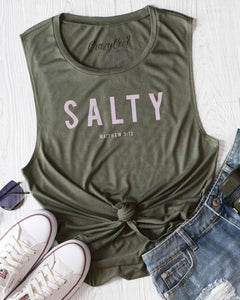Salty Graphic Tank, Matthew 5:13, Free Shipping!