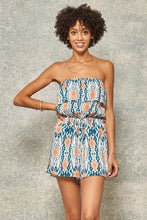 Load image into Gallery viewer, Santa Ana Abstract Off-the-Shoulder Flounce Bodice Romper, Free Shipping!