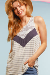 Kinsey Chevron Camo Striped Top, Free Shipping!