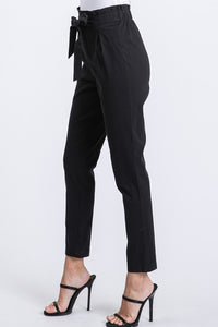Set Your Goals Black Paper Bag Waist Pants, Free Shipping!