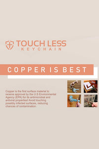 Touchless Copper Key Chain and Bottle Opener, Free Shipping!