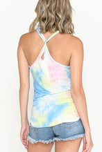 Load image into Gallery viewer, Taking It Easy Tie Dye Twist Back Tank Top, Free Shipping!