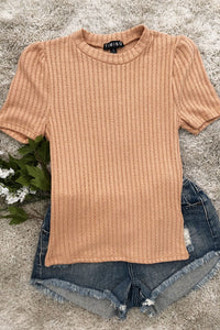Stuck In a Dream Mustard Butter Rum Mockneck Top, Free Shipping!