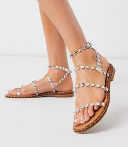 Alexis Jelly Studded Slide Sandals, Free Shipping!