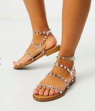 Load image into Gallery viewer, Alexis Jelly Studded Slide Sandals, Free Shipping!