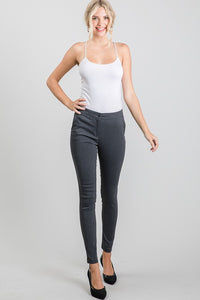 Office Casual Charcoal High-Waisted Leggings, Free Shipping!