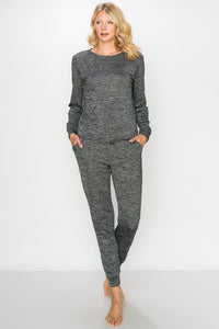 Hacci Bubbly Personality Heather Grey Lounge Wear Set, Free Shipping!