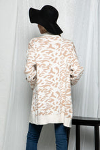 Load image into Gallery viewer, Out In The Wild Animal Print Cardigan Cream/Beige, Free Shipping!