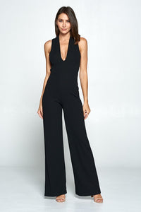 Thinking Out Loud Black Backless Jumpsuit, Free Shipping!