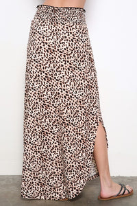 Until Next Time Leopard Print Midi Skirt