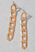 Load image into Gallery viewer, Get What You Want Gold Chain Drop Earrings