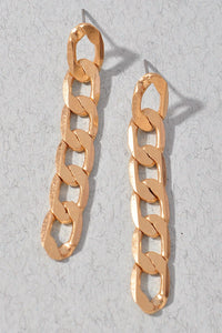 Get What You Want Gold Chain Drop Earrings