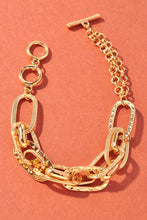 Load image into Gallery viewer, Chain Bracelet With Hammered Stamped Details, Free Shipping!