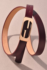 Hermes Inspired Dupe! No Distractions Designer Chic Vegan Leather Belt, Free Shipping!