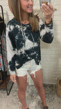 Load and play video in Gallery viewer, Captivating Love Tie Dye V-neck Hoodie Black, Free Shipping!