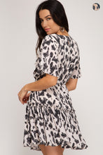 Load image into Gallery viewer, Chase The Idea Belt Detail Animal Print Dress