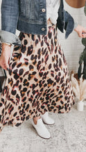 Load and play video in Gallery viewer, Next Time Satin Leopard Print Midi Skirt, Free Shipping!