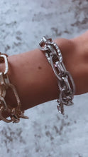 Load and play video in Gallery viewer, Chain Bracelet With Hammered Stamped Details, Free Shipping!