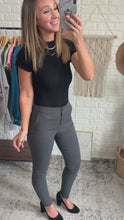 Load and play video in Gallery viewer, Office Casual Charcoal High-Waisted Leggings, Free Shipping!