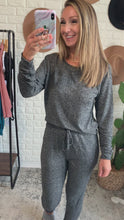 Load and play video in Gallery viewer, Hacci Bubbly Personality Heather Grey Lounge Wear Set, Free Shipping!