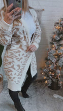 Load and play video in Gallery viewer, Out In The Wild Animal Print Cardigan Cream/Beige, Free Shipping!