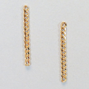 Dainty Drop and Dangle Gold Chain Earrings, Free Shipping!