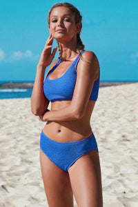 Jamieson Blue Ribbed Bikini Set, Free Shipping!