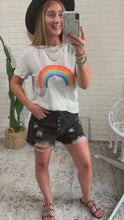Load and play video in Gallery viewer, Naomi Vintage Over The Rainbow Tee, Free Shipping!