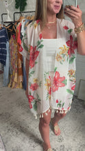 Load and play video in Gallery viewer, Sea and Moon Palm Springs Print Kimono Top, Free Shipping!