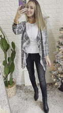 Load and play video in Gallery viewer, Ode to Cozy Grey Plaid Lightweight Jacket