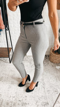Load image into Gallery viewer, Kick It Grey High-Waisted Trouser Pants, Free Shipping!